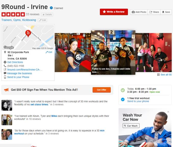 9Round Irvine_Yelp